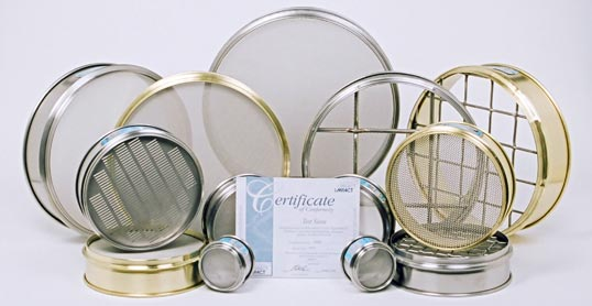 Group of Impact Test Sieves with calibration certificate