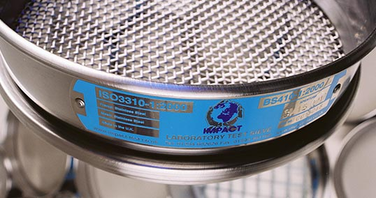 closeup of sieve label